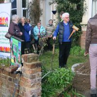Outer Avenue Residents' scheme blossoms with success as Roy Lancaster CBE plants 50th cherry tree in the area
